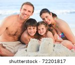family at the beach | Shutterstock . vector #72201817