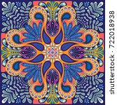 indian paisley pattern ... | Shutterstock .eps vector #722018938