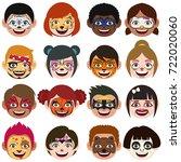 a vector illustration of face... | Shutterstock .eps vector #722020060