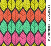 colorful  seamless pattern with ... | Shutterstock .eps vector #722025166