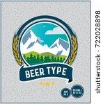 beer label mountainside barley... | Shutterstock .eps vector #722028898