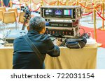 sound technician and lights...   Shutterstock . vector #722031154