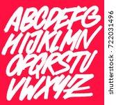 alphabet. vector background.... | Shutterstock .eps vector #722031496