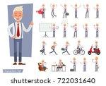 set of businessman character... | Shutterstock .eps vector #722031640