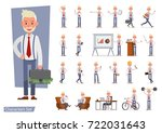 set of businessman character... | Shutterstock .eps vector #722031643