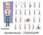set of businessman character... | Shutterstock .eps vector #722031649