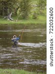 Fly Fisherman Fishing In The...