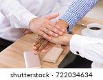business teamwork concept hands ...   Shutterstock . vector #722034634