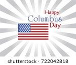 columbus day the discoverer of...   Shutterstock .eps vector #722042818