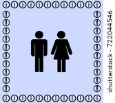man and woman vector icon | Shutterstock .eps vector #722044546
