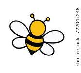 bee and honey character logo... | Shutterstock .eps vector #722045248