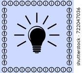 lamp idea vector icon | Shutterstock .eps vector #722047036