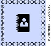 notebook icon  organizer vector ... | Shutterstock .eps vector #722047150