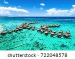 beach travel vacation tahiti... | Shutterstock . vector #722048578