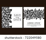 vintage delicate invitation... | Shutterstock .eps vector #722049580