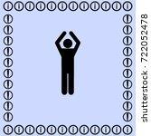 man applause icon  idea vector... | Shutterstock .eps vector #722052478
