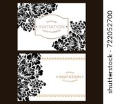 invitation with floral... | Shutterstock .eps vector #722052700
