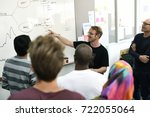 startup business team... | Shutterstock . vector #722055064