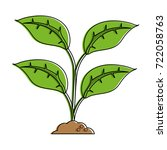 plant sprout icon image    Shutterstock .eps vector #722058763