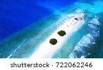 island in maldives with blue... | Shutterstock . vector #722062246