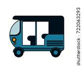 tuk tuk or rickshaw icon image  | Shutterstock .eps vector #722063293