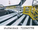 oil pipe plant | Shutterstock . vector #722065798