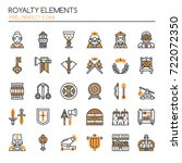 royalty elements   thin line... | Shutterstock .eps vector #722072350