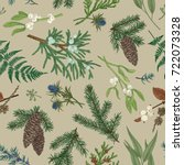 vector seamless pattern with... | Shutterstock .eps vector #722073328