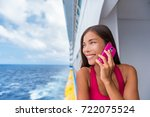 Cruise Travel Woman Talking On...