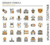 germany symbols   thin line and ... | Shutterstock .eps vector #722077468