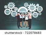 portrait of business people... | Shutterstock . vector #722078683
