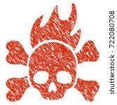 grunge death fire rubber seal... | Shutterstock .eps vector #722080708
