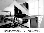 abstract dynamic interior with...   Shutterstock . vector #722080948