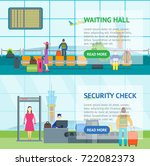 cartoon airport waiting and... | Shutterstock .eps vector #722082373