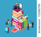 educational concept isometric... | Shutterstock .eps vector #722082700