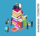 educational concept isometric... | Shutterstock .eps vector #722082700