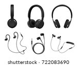 vector set of wireless and... | Shutterstock .eps vector #722083690