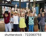 group of diverse kindergarten...   Shutterstock . vector #722083753