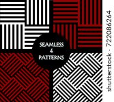 set of seamless pattern of two... | Shutterstock .eps vector #722086264