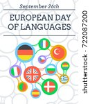 greeting card   european day of ... | Shutterstock .eps vector #722087200