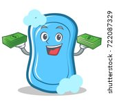 with money blue soap character... | Shutterstock .eps vector #722087329