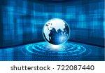 global blue background   Shutterstock .eps vector #722087440