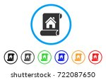 realty description roll rounded ... | Shutterstock .eps vector #722087650