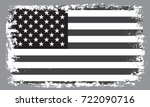 black and white grunge usa flag.... | Shutterstock .eps vector #722090716