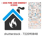 kitchen fire icon with bonus...
