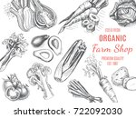 eco shop of farm products.... | Shutterstock .eps vector #722092030