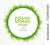 green bright fresh grass round... | Shutterstock .eps vector #722092564