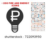 rouble bulb pictograph with...