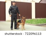Security Guard With Dog ...