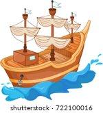 Antique Ship  Cartoon